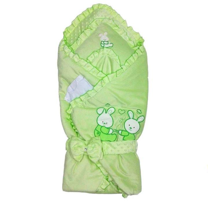 Комплект на выписку зеленый 6V-KM004-VLj 01609 Мамин Малыш