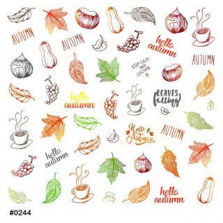 Слайдер-дизайн для ногтей № 0244