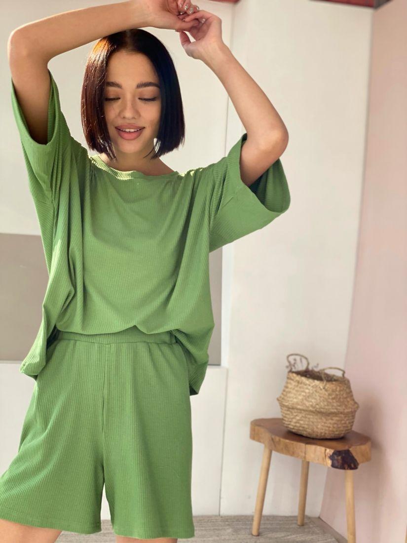 4514 Костюм home wear в цвете forest green