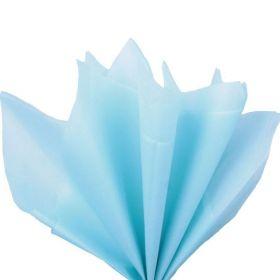 Бумага упаковочная тишью, светло-голубой, 50 см х 66 см