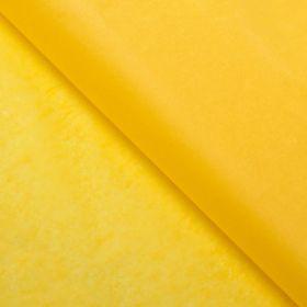 Бумага упаковочная тишью, желтый, 50 см х 66 см
