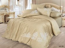 Комплект постельного белья Сатин Бамук с вышивкой евро  Арт.31/002-BS