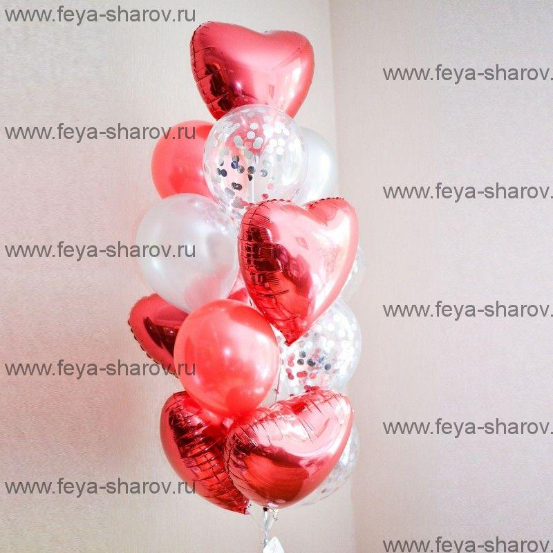 Фонтан шаров Красное серебро