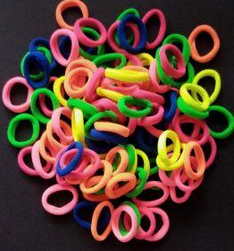 резинка бесшовная 30 мм ЯРКИЙ МИКС упаковка 12 шт (6 оттенков*2 шт) салатовый, ярко-оранжевый, ярко-розовый, синий, фуксия, зеленый