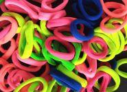 резинка бесшовная 35 мм (узкая) ЯРКИЙ МИКС упаковка 12 шт (6 оттенков*2 шт) салатовый, ярко-розовый, фуксия, зеленый, синий, ярко-оранжевый