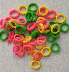 резинка бесшовная 25 мм ЦВЕТНОЙ МИКС цена за упаковку 8 шт (4 оттенка*2 шт) ярко-желтый, ярко-оранжвый, ярко-розовый, зеленый