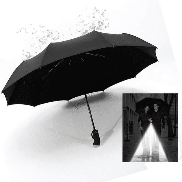 Зонт Xiaomi с светодиодным фонариком Automatic Umbrella with LED Flashlight