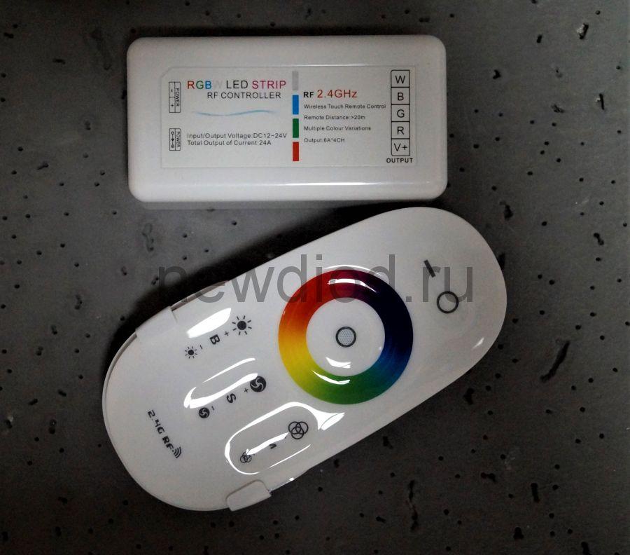 RGBW контроллер сенсорный МУЛЬТИКОЛОР 2.4G 12/24V 18A 216/432W Oreol