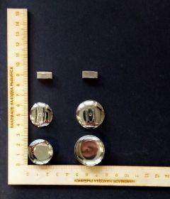 основа для резинки под кабошон диаметром 30 мм металл/ серебро КОМПЛЕКТАЦИЯ НА ВЫБОР