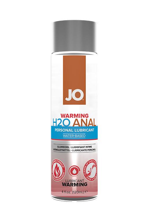 Анальный согревающий лубрикант на водной основе / JO Anal H2O Warming, 4 oz - 120 мл.