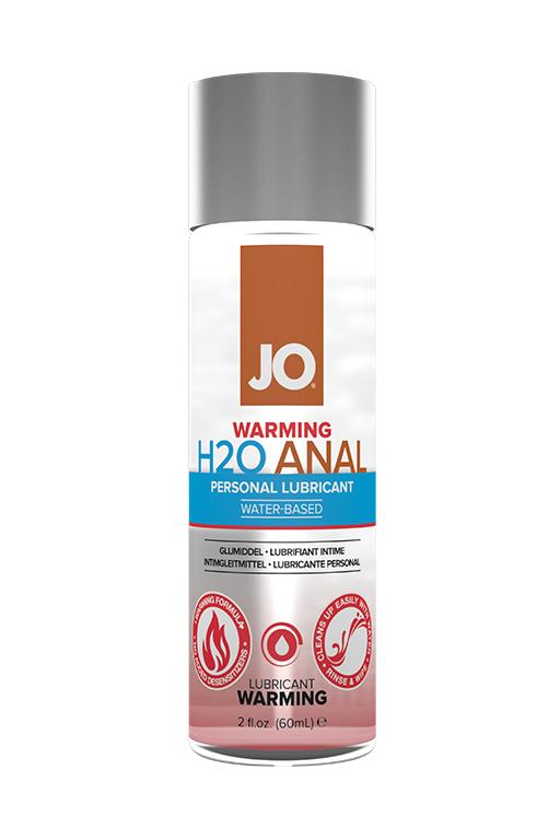 Анальный согревающий лубрикант на водной основе / JO Anal H2O Warming 2 oz - 60 мл.