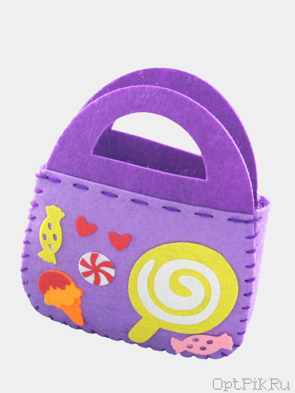 """Набор из фетра для создания сумочки """"Сладости"""""""