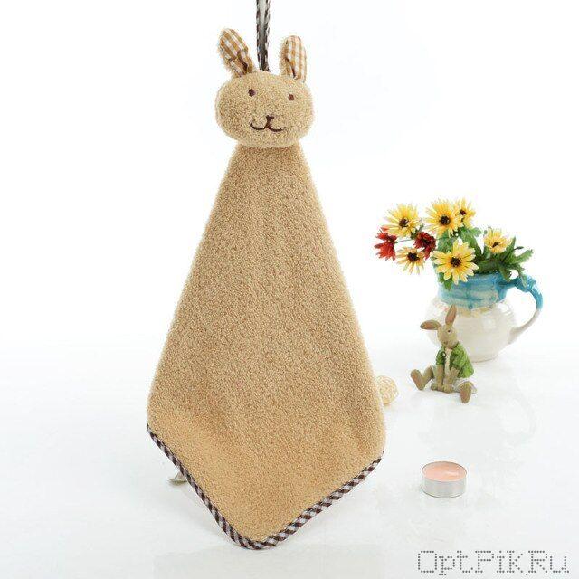 Детское полотенце для рук Кролик (цвет: светлый кофе)
