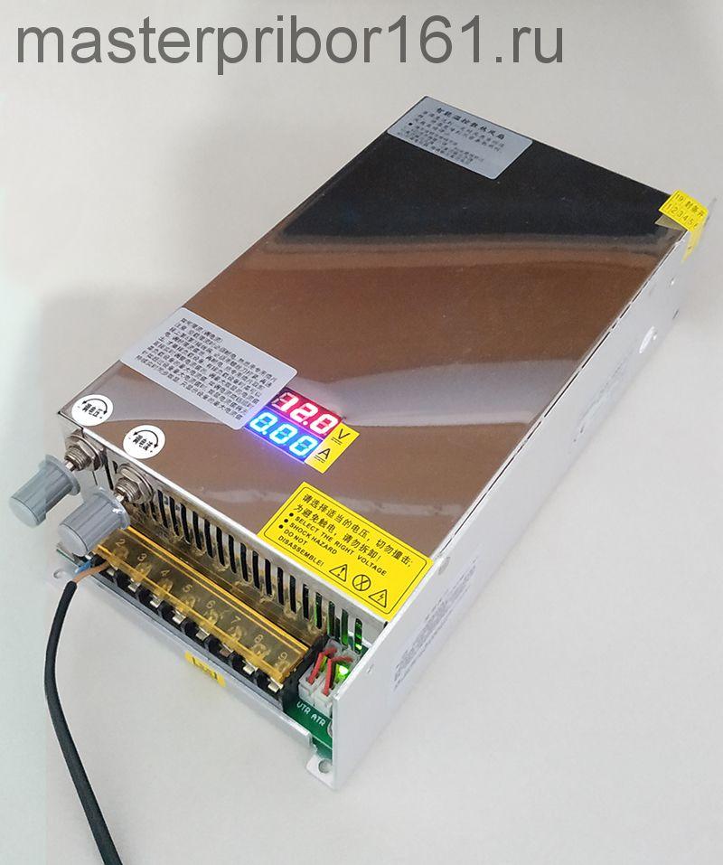 Цифровой импульсный регулируемый источник питания 0-80В , 0-12,5А 1000W с встроенным вольт-амперметром