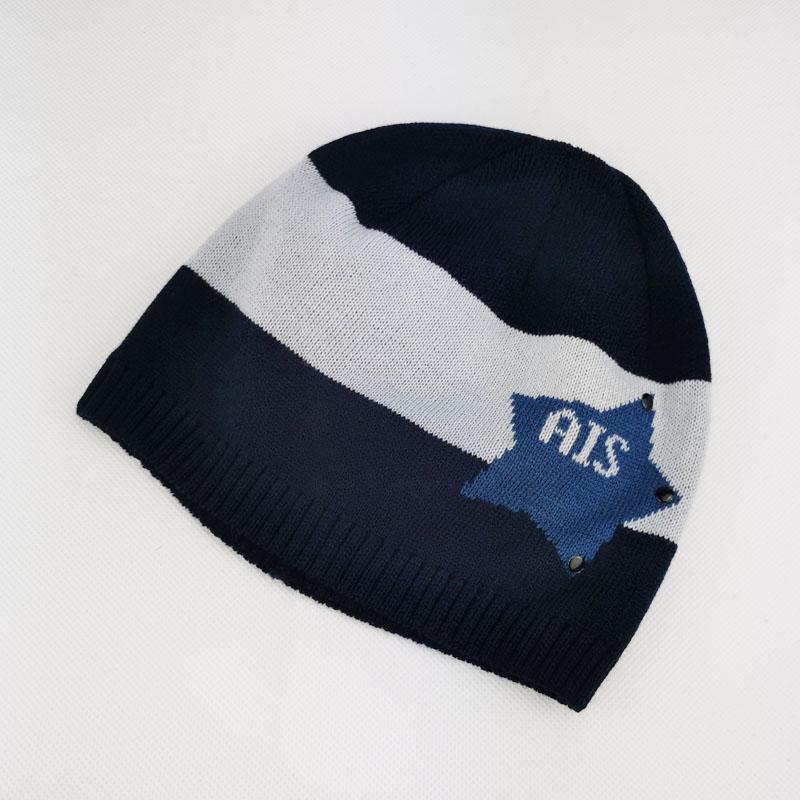 зм1201-58 Шапка колпачок вязаная AIS темно-синяя