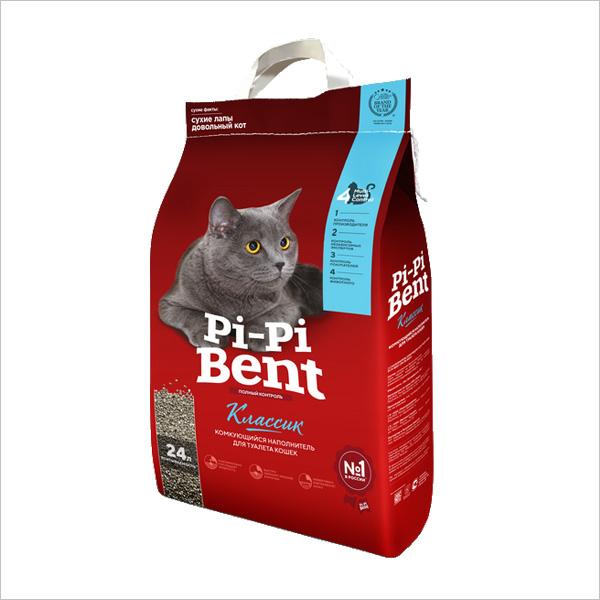 Наполнитель для кошек Pi-Pi-Bent Classic комкующийся 10кг