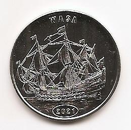 Парусник Ваза  1 доллар Остров Флорес 2021