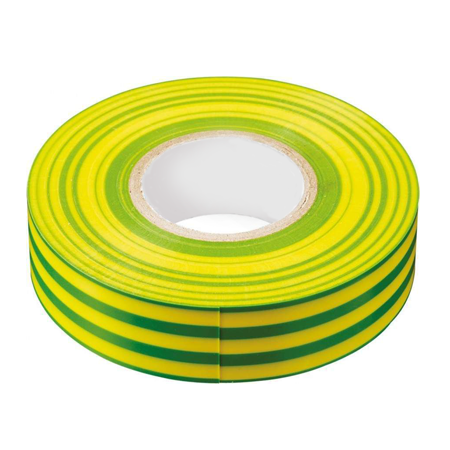 Желто-зеленая изоляционная лента из ПВХ 15х20м