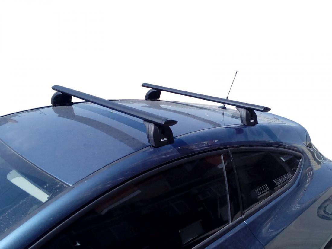 Багажник на крышу Opel Astra J (sedan/hatchback), Lux, черные крыловидные дуги