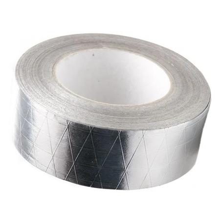 Лента Скотч фольгированный алюминиевый армированный 100х50