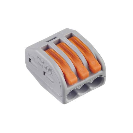Соединитель WAGO 222-413 на 3 провода (50шт)