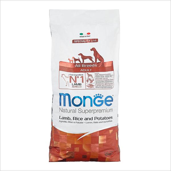 Сухой корм для собак Monge Speciality line с ягненком рисом и картофелем 12 кг