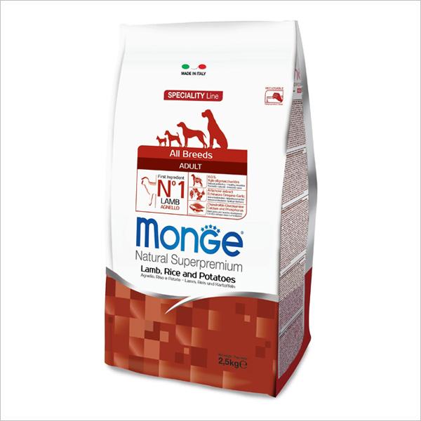 Сухой корм для собак Monge Speciality line с ягненком рисом и картофелем 2.5 кг