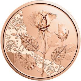 Роза 10 евро Австрия 2021 Серия «Язык цветов»