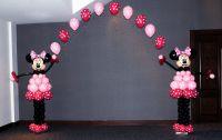 Оформление шарами Минни и арка