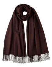 Роскошная классическая шотландская  шаль, высокая плотность, 100 % драгоценный кашемир , расцветка Шоколадная  (премиум)