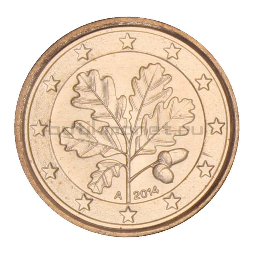 1 евроцент 2014 А Германия