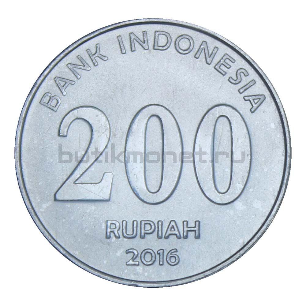 200 рупий 2016 Индонезия