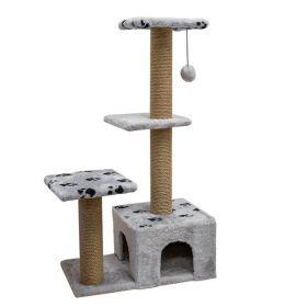 """Дарэлл Дом для кошек """"Джут95"""" квадратный,серый."""