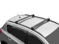Багажник на крышу Hyundai Creta, 2021-..., Lux Bridge, крыловидные дуги (черный цвет)