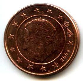 Бельгия 2 евроцента 2004