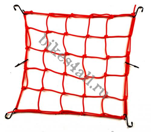 Сетка багажная красная 30х30 см