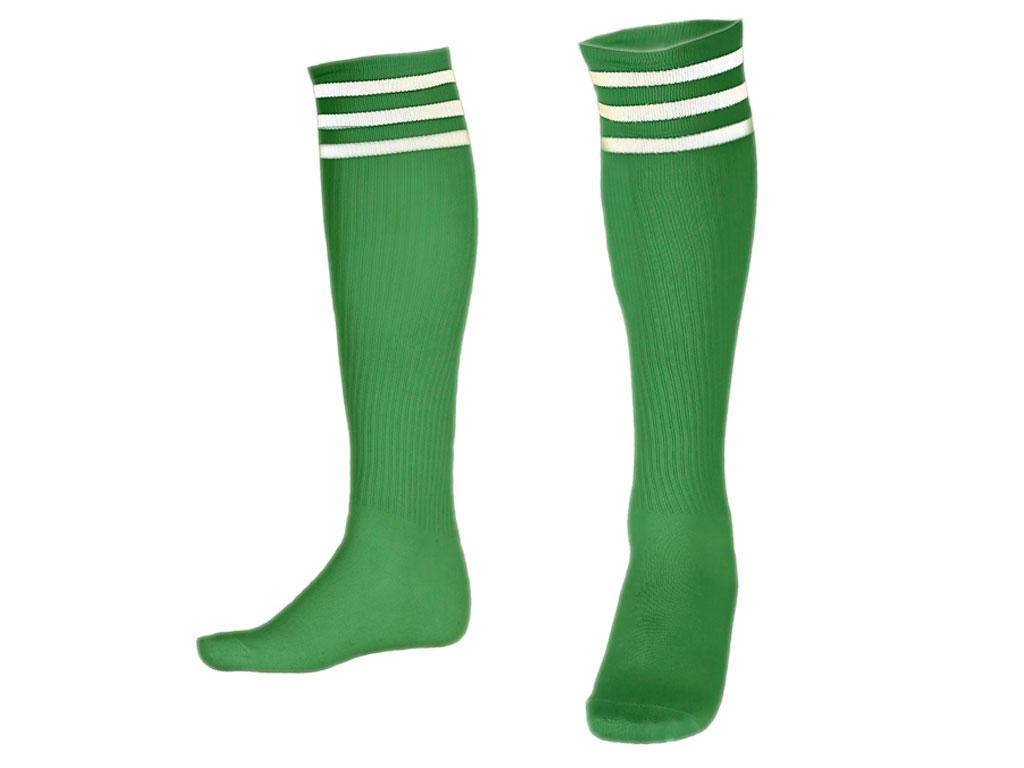 Гетры футбольные. Цвет. зелёный. Размер 39-42, артикул 12695
