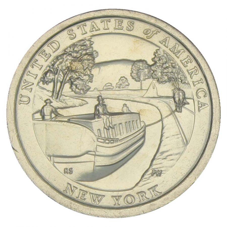 1 доллар 2021 США Канал Эри, Нью-Йорк (Американские инновации)