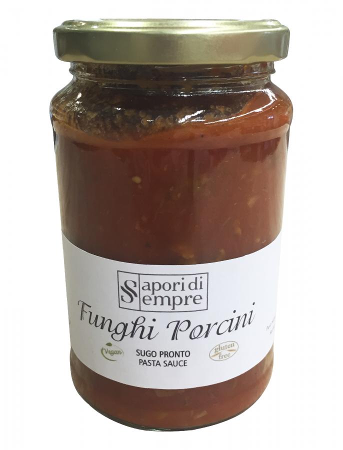 Соус с белыми грибами 340 г , Funghi Porcini sugo pronto Delikatesse 340 gr