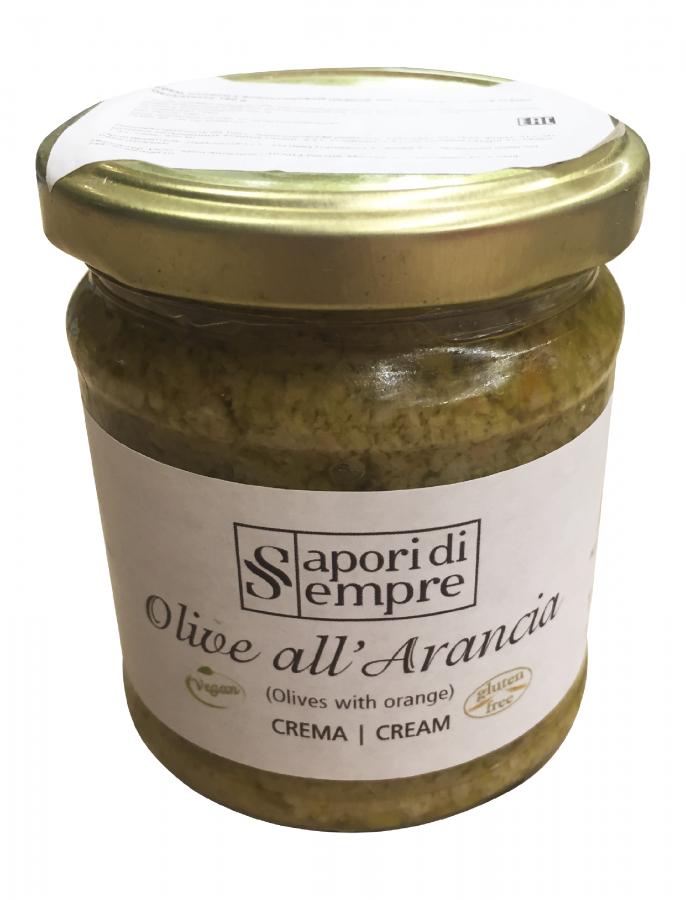 Крем оливки с апельсиновой цедрой 180 г, Olive all'arancia crema Delikatesse 180 gr