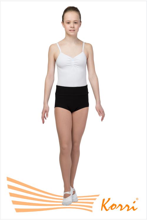 Спортивные трусы-шорты Корри с высоким мягким поясом, чёрные, хлопок, размер 44. Артикул ТШ 23-361