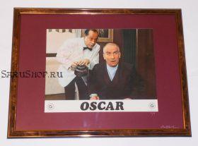 Автографы: Оскар 1967 г. Луи де Фюнес, Поль Пребуа. Старое промо фото. Редкость
