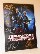 Автографы: Терминатор 2: Судный день. 12 подписей. Шварценеггер, Хэмилтон, и др. Редкость
