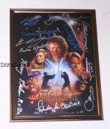Автографы: Звёздные войны: Эпизод 3 — Месть ситхов. 11 подписей. Редкость.