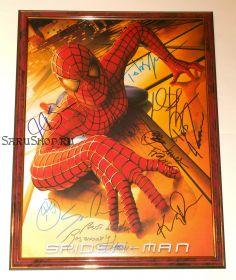 Автографы: Человек-паук 2002 г. 8 подписей