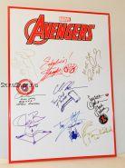 Автографы: Мстители / The Avengers. Стэн Ли, Роберт Дауни мл., Крис Эванс, Крис Хемсворт, и др.  9 подписей. Редкость