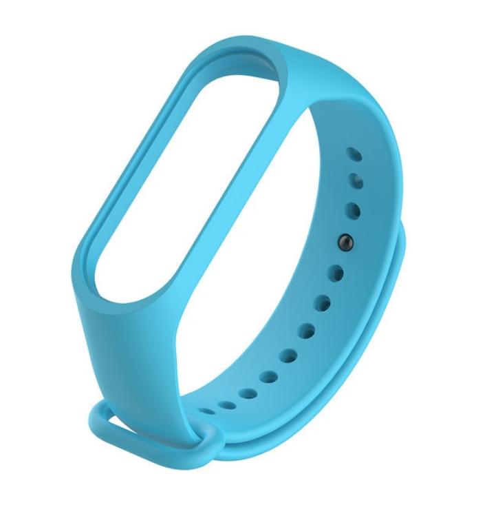 Силиконовый ремешок для Xiaomi Mi Band 3/4 (Голубой)