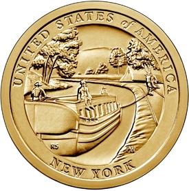 Канал Эри. Нью-Йорк.1 доллар США  2021 Инновации Монетный двор на выбор