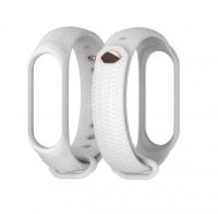 Силиконовый ремешок для Xiaomi Mi Band Mijobs 3/4 ( Белый )