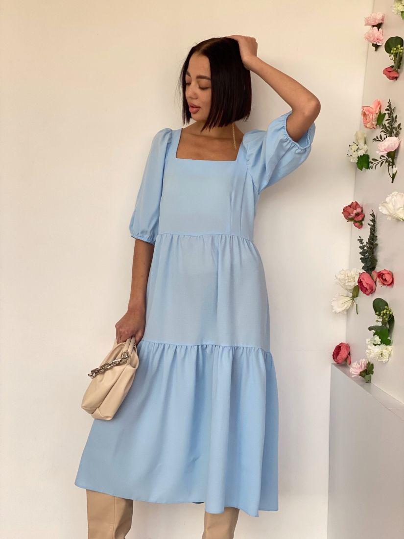 4526 Платье-парашют небесно-голубое